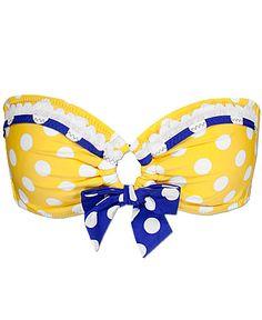 Betsey Johnson Let's Polka Swimwear Top
