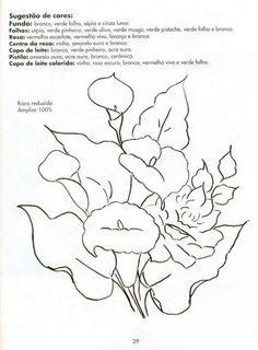 Desenhos Lindos de Frutas e Flores