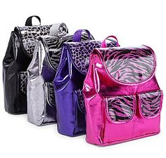 Total Girl® Mini Animal-Print Backpack in Zebra Print