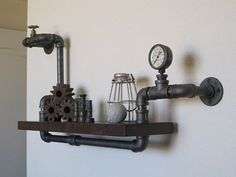 Stout Mini Single with Valve and Pressure Gauge Pipe Shelf