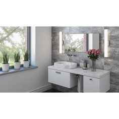 DALS Lighting 18 Inch Square LED Vanity Light (2 options available)