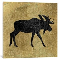 East Urban Home 'Golden Lodge III' Graphic Art Print on Canvas Size: