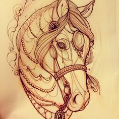 Because.. I'm soon getting one upper leg tattooed for my diseased father.. Now I'm thinking about, what to get on my other leg, and because the other one is for my dad i'm thinking about 'mom & dad' maybe i'll do something for my mom once. and yea my mom is crazy about horses.
