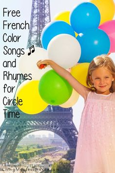 Montessori elementary Free French Color Songs and Rhymes for Circle Time Living - History Kindergarten Songs, Preschool Songs, Kids Songs, Preschool Colors, French Language Lessons, French Language Learning, Learning Spanish, French Lessons, French Kids