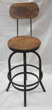 $215, Adjustable Height Rustic Bar Stool F8 Rustic Bar Stools, Wood Table, Rustic Furniture, Creations, Chair, Home Decor, Furniture, Woodwind Instrument, Country Furniture