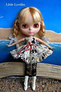 BLYTHE DOLL Dress - OOAK - Alice in Wonderland classic dress by LittleLovelieShop on Etsy