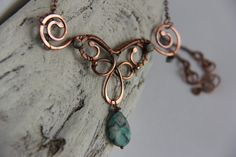 Layering necklace two piece necklace copper and by Keepandcherish