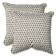 Pillow Perfect Outdoor Seeing Spots Sterling Throw Pillow, 18.5-Inch, Set of 2