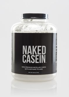 Naked Casein ($95): Casein, the main protein in milk, is absorbed more slowly than whey, so it's not a powerhouse muscle builder but what does have going for it is the fact that it leaves you feeling fuller longer. Naked Casein comes from US farms and is au natural -- no additives or artificial flavors.