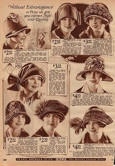 vintage hats. I wish they cost that much NOW!