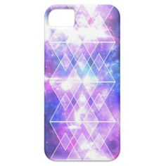 galaxy nebula stars TRIANGLES X DIAMONDS iPhone 5 Covers
