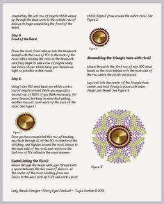 Bead Mavens: Tutorial Starry Eyed Pendant ~ Twyla(Page 5 of 6)
