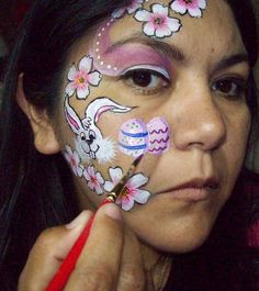 Face Painting: Easter step by step face painting