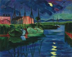 Artwork by Max Pechstein, Abend, Made of oil on canvas