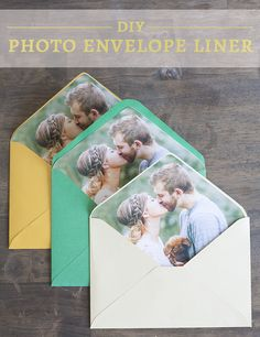 DIY Photo Envelope Liner with Cricut #MyCricutStory