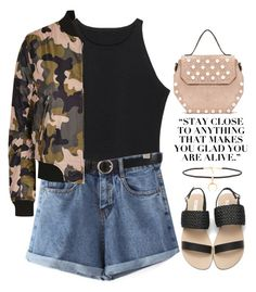 """""""~Camo'd up~"""" by amethyst0818 ❤ liked on Polyvore featuring Joolz by Martha Calvo and Topshop"""