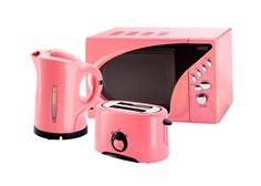 Pink Microwave, Toaster And Kettle Set from www.pink-princess.co.uk