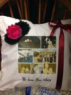 Wedding Pillow photo keepsake pillow. Perfect by WeddingTokens