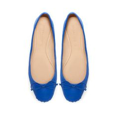BAILARINA BALLET  Klein blue ballet flat.  Leather.  30€ ZARA