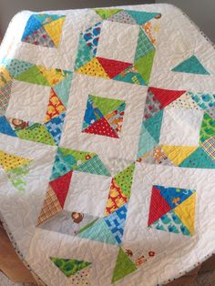 ZOO Theme Crib size Quilt for Baby / Toddler/ by DoLLsGoNeWiLd, $130.00