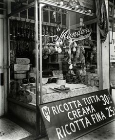 Cheese Store, 276 Bleecker Street, Manhattan. (February 02, 1937) Berenice Abbott, photographer