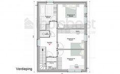 Realisatie | Thuis Best woningbouw |BEN woning Modern type A - verdieping. Eigen woning bouwen? www.thuisbest.be