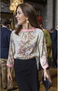 Crown Princess Mary of Denmark in a blouse by SAND.