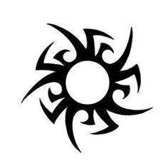 Tribal Sun Tattoo - TattooWoo.com