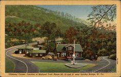 Vtg Postcard Chimney Corner near Gauley Bridge, WV