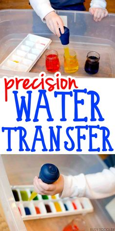 Precision Water Transfer - love this science / fine motor skills / easy indoor activity. Kids will have so much fun with this!