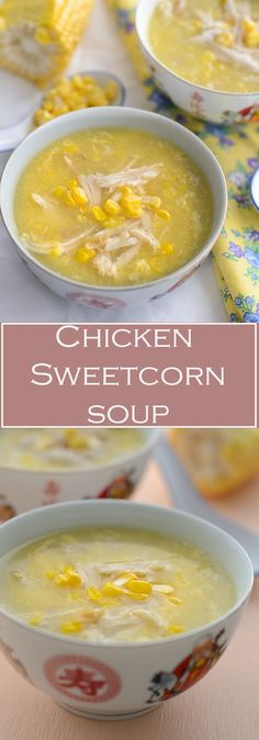 Smooth Silky chicken sweetcorn soup use either fresh chicken breast for healthier option or use leftover roast chicken, either fresh corns or canned creamed corn. From stove to table in less than 15 minutes. Sweetcorn Soup Recipes, Chicken And Sweetcorn Soup, Chicken Corn Soup, Sweet Corn Soup, Fresh Chicken, Chicken Cream Soup, Chicken Soup Slow Cooker, Dog Recipes, Coffee Recipes