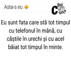Asta-s eu ♡♡♡ Rap Quotes, Love Quotes, Mental Breakdown, Totally Me, Just Me, Motto, Texts, My Photos, Sad