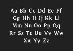 Cambridge Typeface by Michelle Wang, via Behance