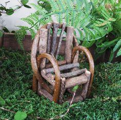miniture gardens | Willow Chair Miniature Garden Fairy Garden or by GardenBarn