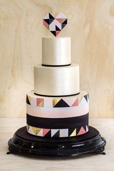 Geometric Wedding Cake // Wedding Cake Trends // www.onefabday.com