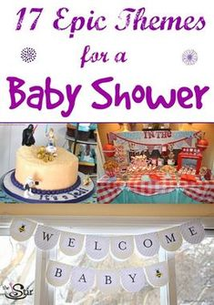 So many cute and creative baby shower themes here! Star Wars! Bun in the oven and more! Gender neutral and ones for boys AND girls!
