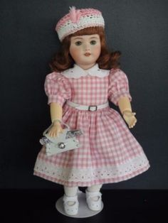 BLEUETTE-Reproduction-porcelain-doll-UNIS-301-Green-eyes-G-BRAVOT-France-27cm