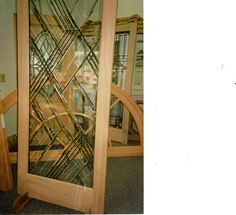 Our very contemporary 800 series Beveled glass.
