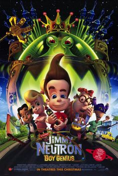 Jimmy Neutron: Boy Genius , starring Debi Derryberry, Rob Paulsen, Megan Cavanagh, Mark DeCarlo. An 8-year-old boy genius and his friends must rescue their parents after the adults are abducted by aliens. #Animation #Action #Adventure #Comedy #Family #Sci-Fi