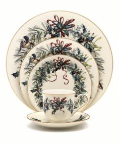 Lenox Dinnerware, Winter Greetings Collection These are my dishes starting with Thanksgiving through the winter.