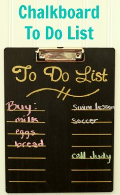 Cute and easy Chalkboard To Do List - Down Home Inspiration
