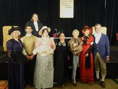 """The cast of the """"Austen Assizes"""" play, by Syrie James and Diana Birchall, at the 2012 JASNA AGM in New York. Syrie and Diana have written a new play, """"A Dangerous Intimacy"""" for the 2014 AGM, and it will be performed this weekend in Montreal. Blog post on Mansfield Park in Montreal"""": http://sarahemsley.com/2014/10/06/mansfield-park-in-montreal/"""