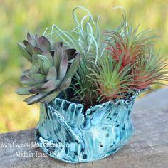 Succulent Pottery Pot That is hand built, organic, ceramic planter pot, mini planter pot, flower pot, green thumb gift, cactus pot
