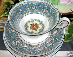 Wedgwood Florentine Fruit Tea Cup and Saucer