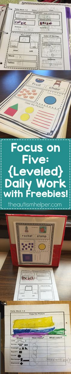 We can't get enough of our Leveled Daily Work resource!! Holly breaks down 5 ways to rock this resource in your classroom on the blog!!! From theautismhelper.com #theautismhelper