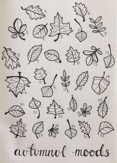 Autumnul mood tracker for October 😌 Bullet Journal Mood Tracker Ideas, Bullet Journal Month, Bullet Journal 2020, Bullet Journal Ideas Pages, Bullet Journal Spread, Bullet Journal Layout, Bullet Journal Inspiration, Leaf Drawing, Peony Drawing
