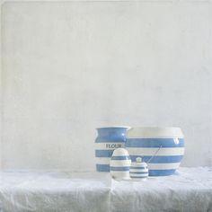 I love Cornishware - reminds me of my granny