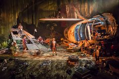 Lord of the Flies. Regent's Park Theatre. Scenic design by Jon Bausor. 2015