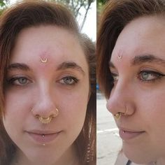 460 Likes, 6 Comments - Lucky's Tattoo and Piercing (Lucky's Tattoo) on Instagra. Septum Piercing Jewelry, Cool Ear Piercings, Labret Piercing, Facial Piercings, Body Piercing, Septum Ring, Piercing Tattoo, Third Eye Piercing, Lucky Tattoo