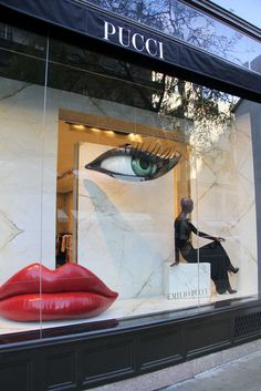 Outside Pucci's flagship on Madison Avenue.
